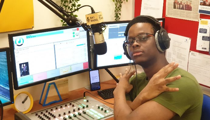 young man in studio