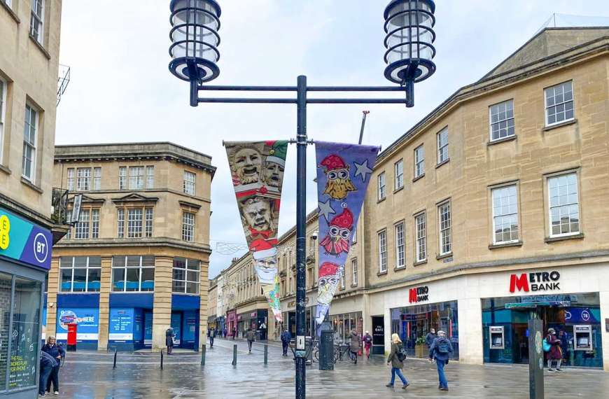 Bath Bid get into the Christmas spirit with citywide bunting display