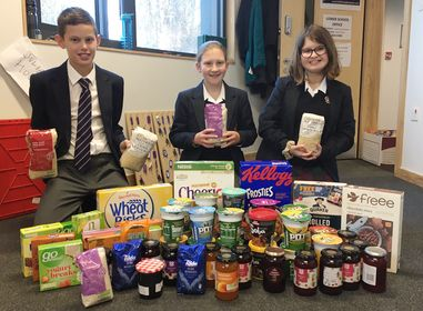 King Edward's School, Bath take part in a reverse advent this Christmas in aid of local charity, Julian House.