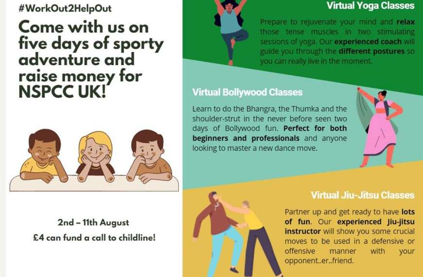 Bath students to host free online exercise classes in support of NSPCC